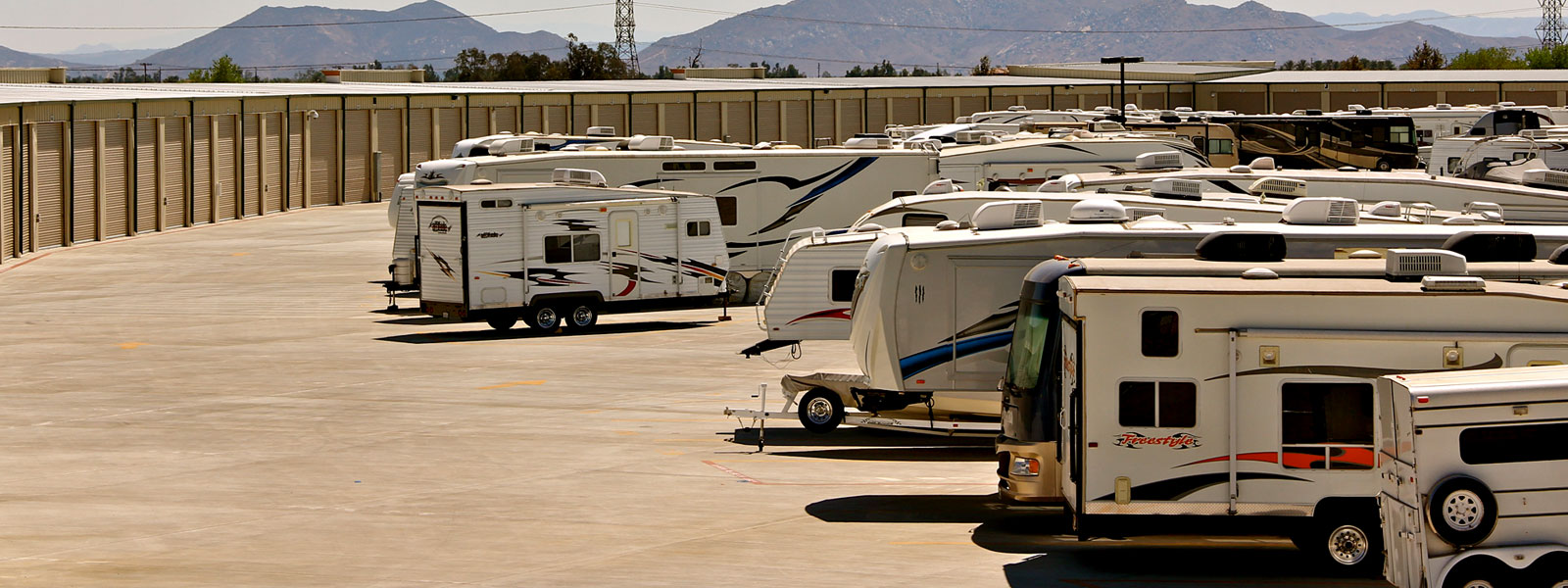 RV Storage Parking lot