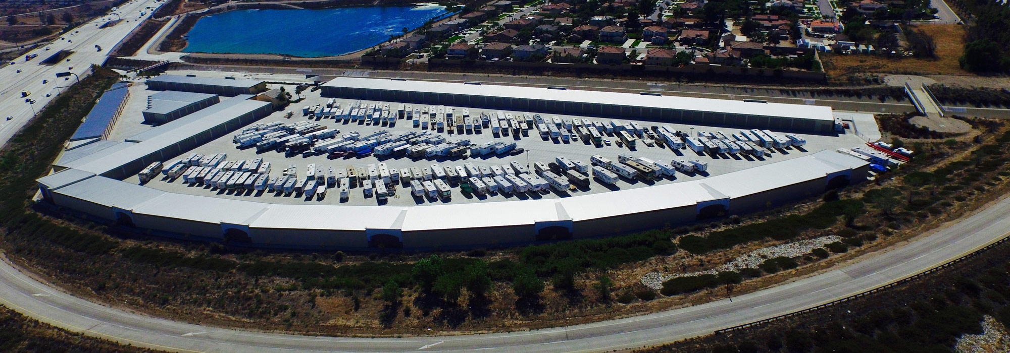 Victoria RV & Boat Storage – New Facility Birdeye View